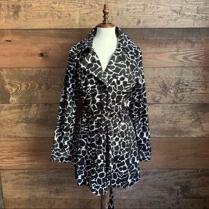 Luii Brand Giraffe Print Trench Coat